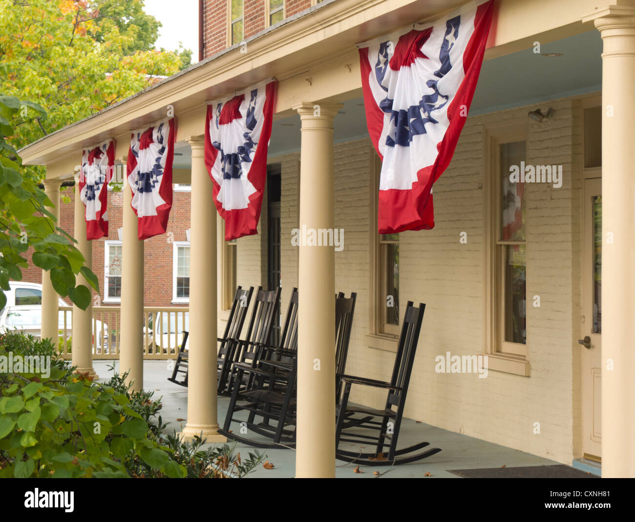 rocking chair resort mountain home arkansas steel properties chairs stock photos and images