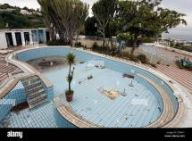 Dilapidated Pool Of Abandoned Hotel Lacco Ameno