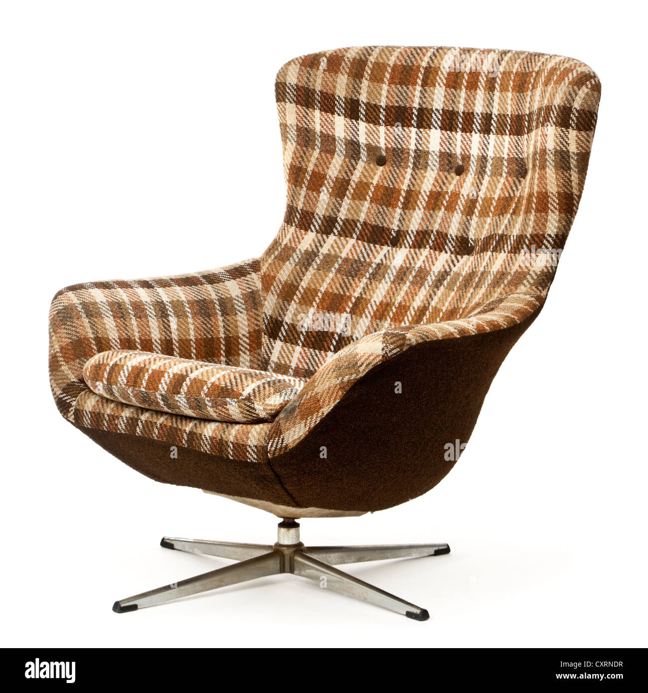 Upholstered Swivel Chairs Vintage Upholstered Swivel And Tilt Egg Chair Stock Photo