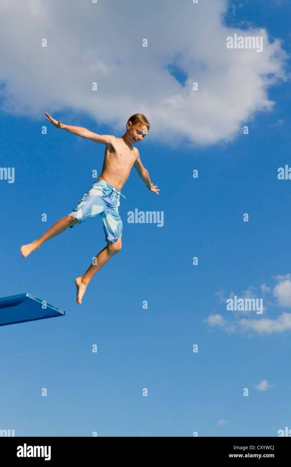 Jump Diving Board Stock &