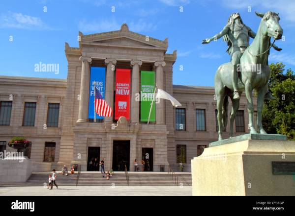 Boston Massachusetts Huntington Avenue Museum Of Fine Arts Front Stock Royalty Free