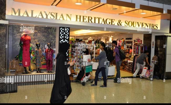 Souvenir Shop At Kuala Lumpur Airport Malaysia Stock