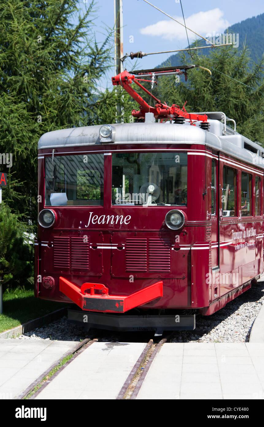 Tramway Du Mont-blanc : tramway, mont-blanc, Jeanne, Automotrice, Tramway, Blanc, Electric, Train, Stock, Photo, Alamy