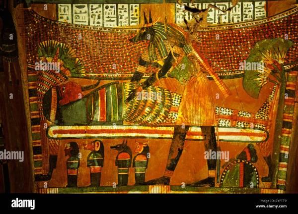Egypt Cairo Egyptian Museum. Interior Of Coffin