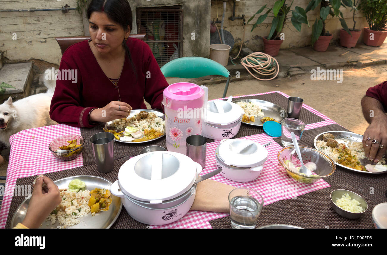 Dog Eating Dinner Table