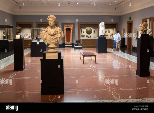 Greco-roman Sculptures Pottery In Exhibition Room Getty