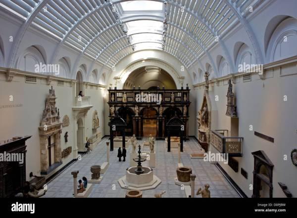 Victoria And Albert Museum Interior Stock