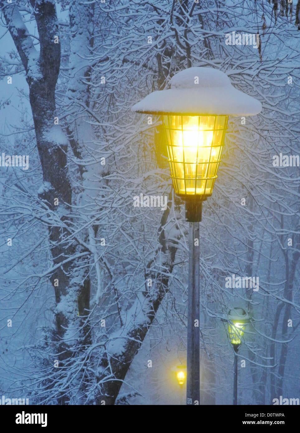 Switzerland, Europe, Leysin, winter, snow, cold, lantern