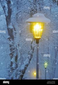 Switzerland, Europe, Leysin, winter, snow, cold, lantern ...