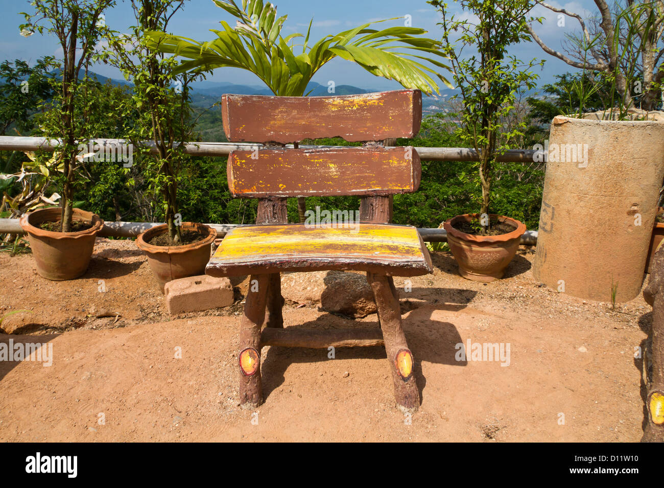 swing chair thailand toddler table and set wooden on phuket stock photo royalty free