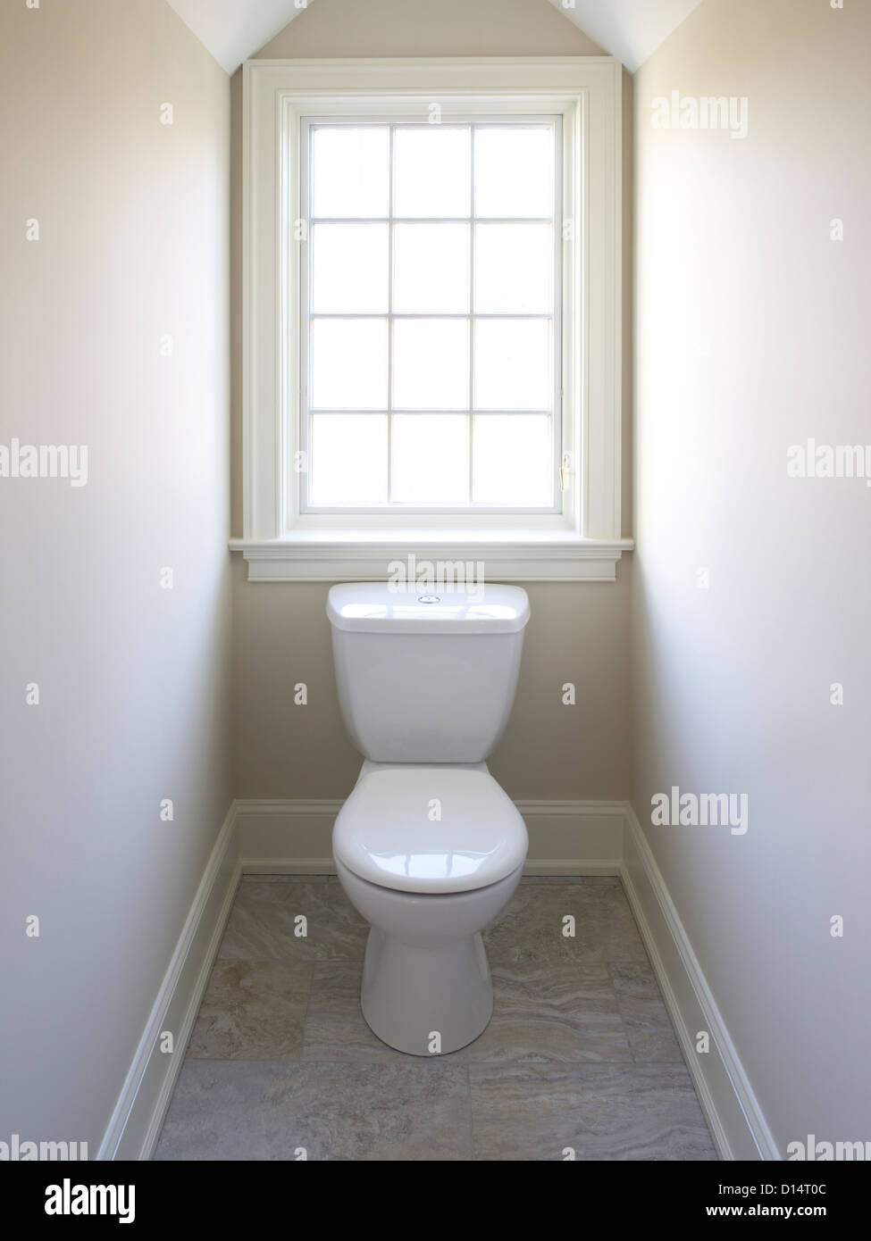 Toilet  Window In Very Small Room Stock Photo Royalty