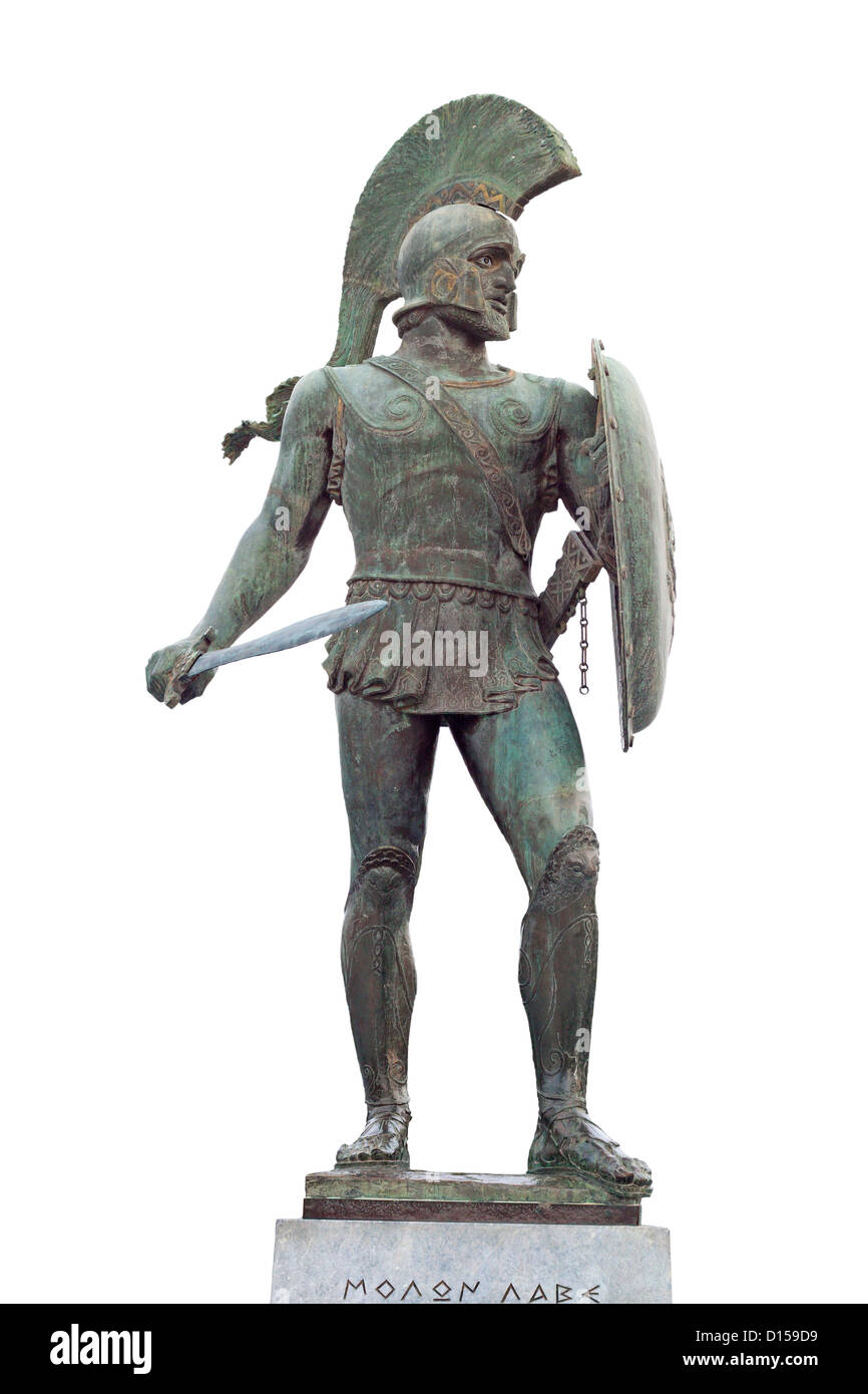 King Leonidas of the 300 spartan soldiers Statue found at