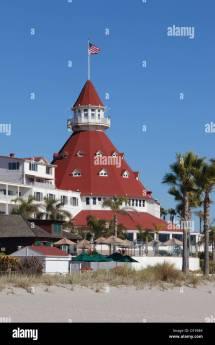Hotel Del Coronado In San Diego California Usa Stock