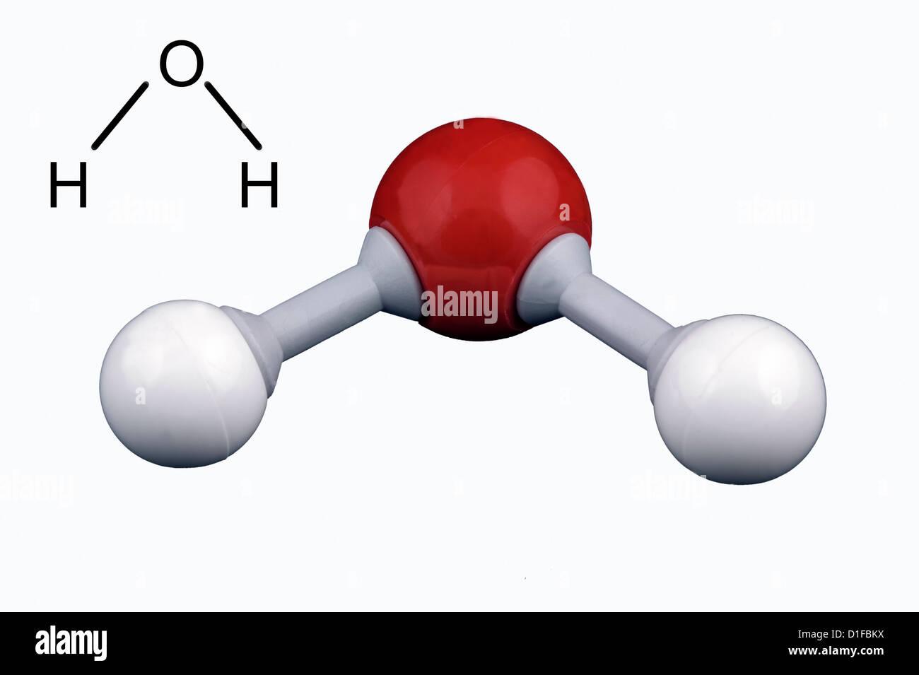 Water Molecule Model Stock Photo