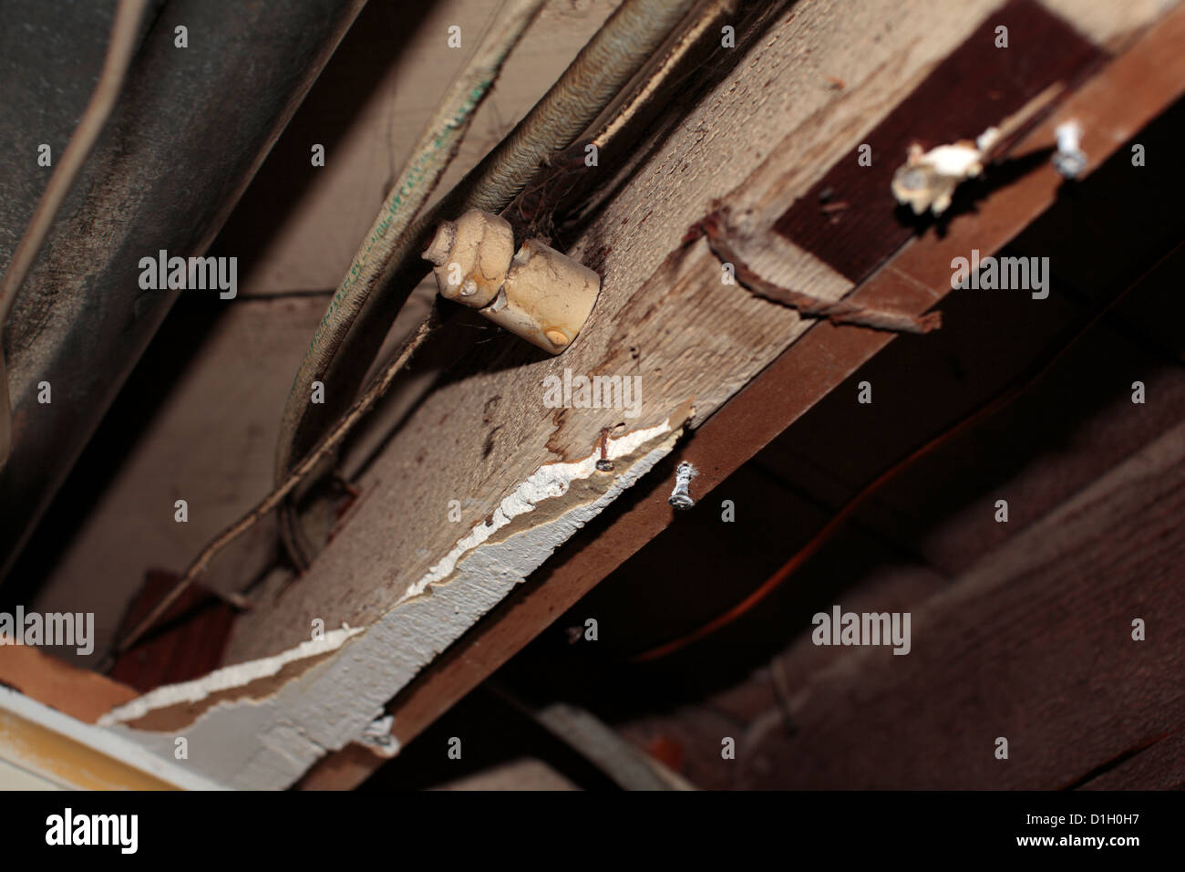 hight resolution of knob and tube wiring stock image