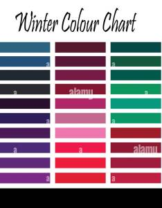 Color chart for winter type woman clothes and makeup also stock photo rh alamy