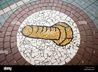 Unusual mosaic tile footpath art, Taipei Stock Photo ...