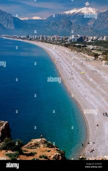 Ocean-side Beach Antalya Turkey Stock