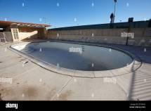 Empty Abandoned Swimming Pool Motel Strip