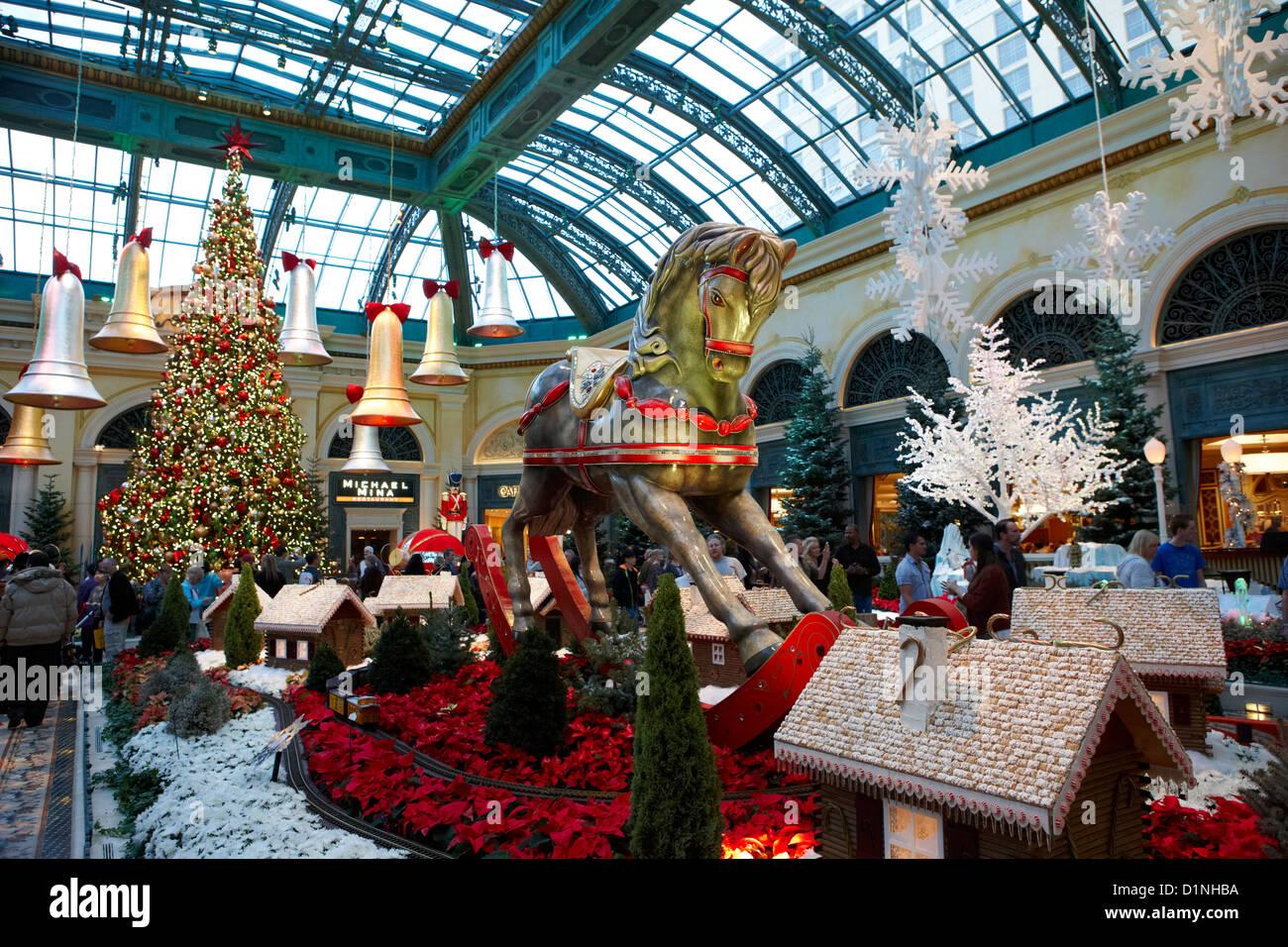 Las Vegas Bellagio Christmas Stock Photos & Las Vegas