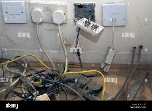 small resolution of dusty power cables and electrical plugs in a british household