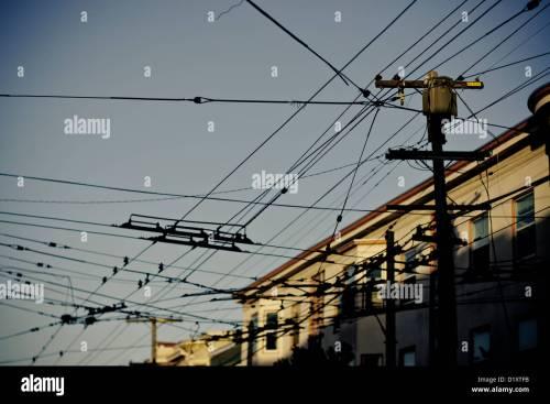 small resolution of overhead street car cables san francisco california usa
