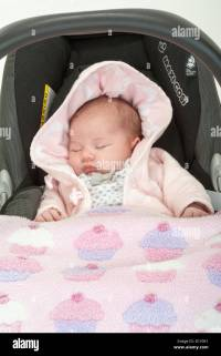 Newborn Baby Sleeping In Car Seat