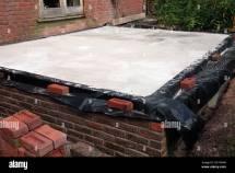 Building Conservatory - Dwarf Walls Damp Proof