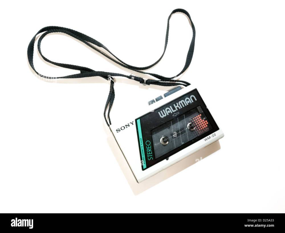 medium resolution of a 1980 s sony walkman wm22 budget model personal stereo cassette player on a white background