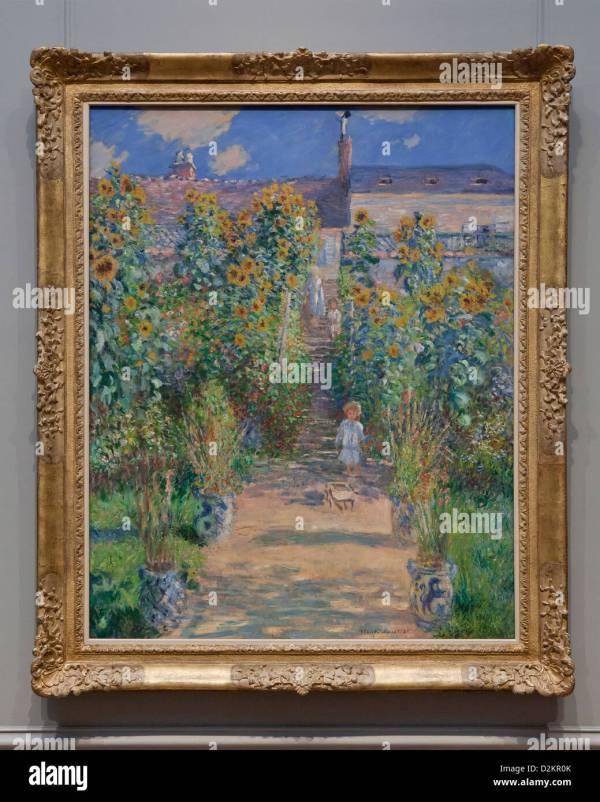 """ Artist' Garden Vetheuil"" Claude Monet 1880"