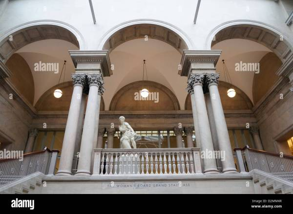 Grand Staircase Of Art Institute Chicago With