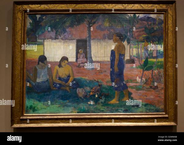 Paul Gauguin Painting In Art Institute Chicago. ""
