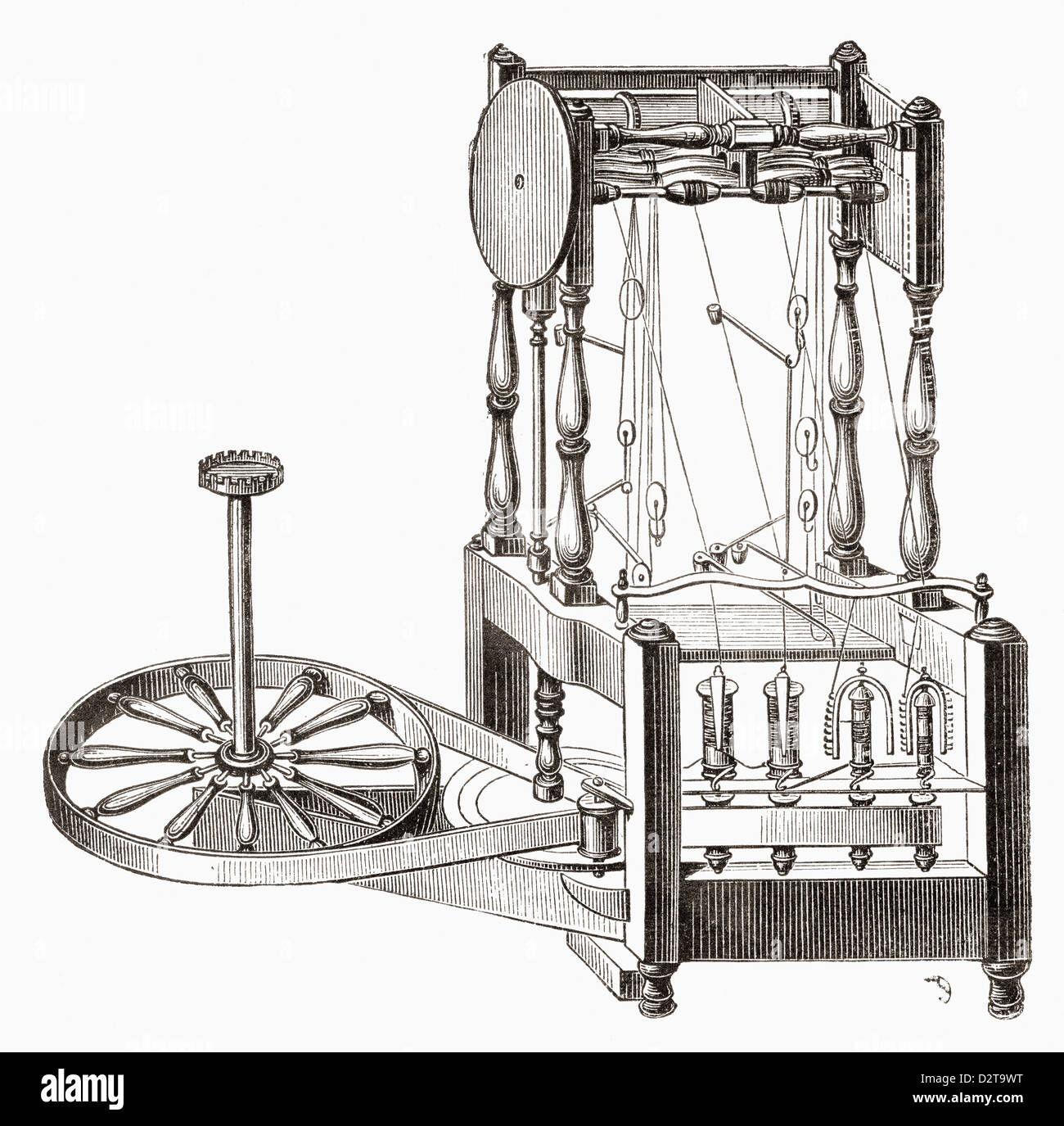 hight resolution of richard arkwright u0027s water frame stock photo 53395044 alamy water frame diagram