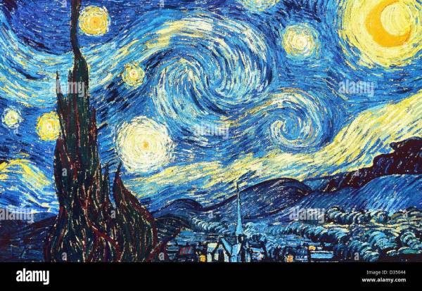 Vincent Van Gogh Starry Night. 1889. Realism. Oil Canvas Stock Royalty Free
