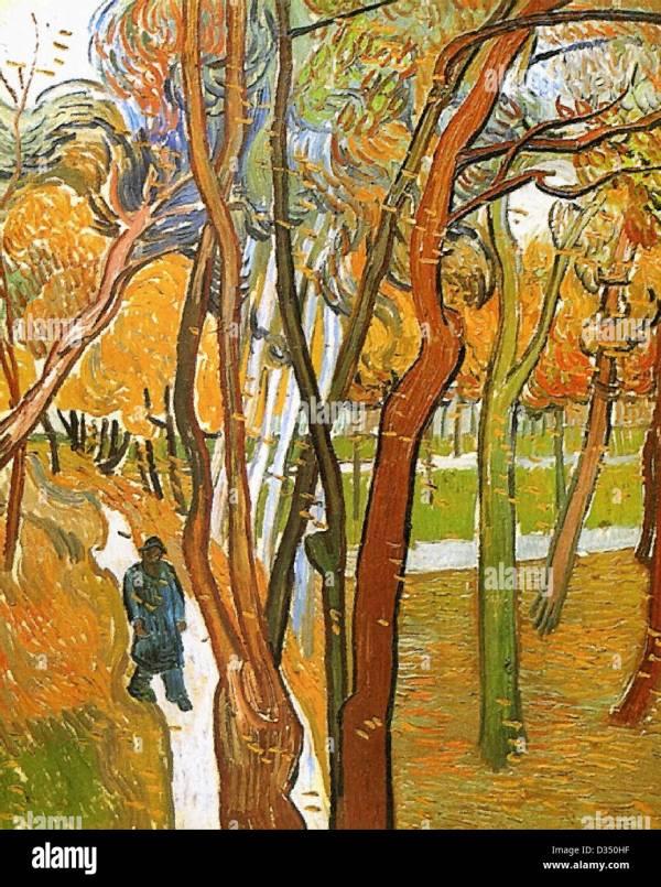 Vincent Van Gogh Falling Autumn Leaves