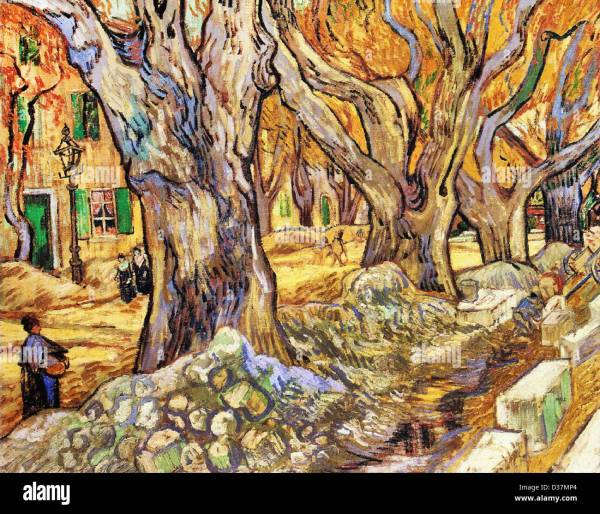 Vincent Van Gogh Large Plane Trees. 1889. Post-impressionism. Oil Stock Royalty Free