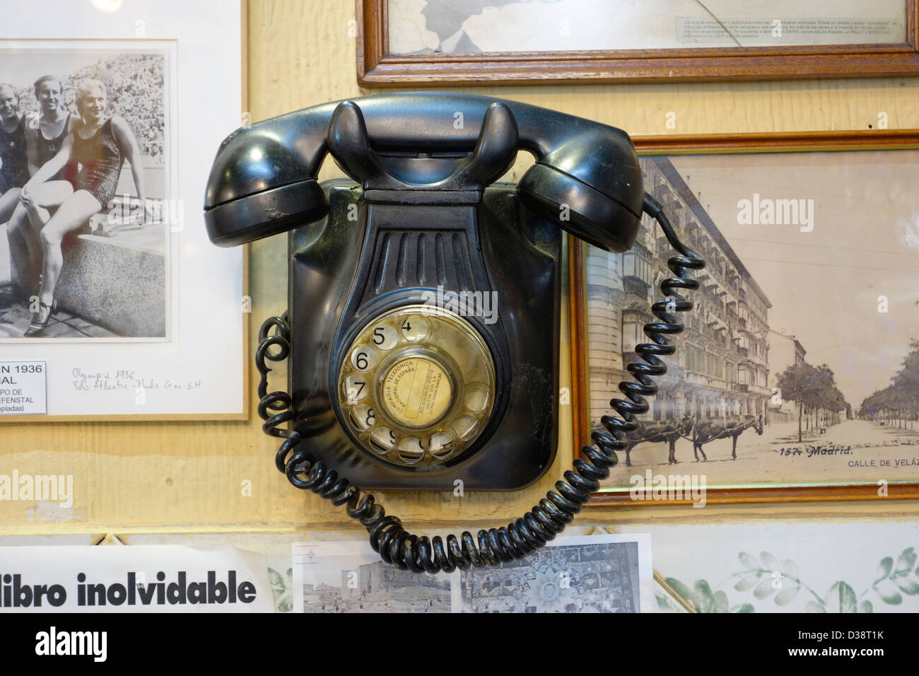 hight resolution of old antique telephone madrid spain communication dated phone