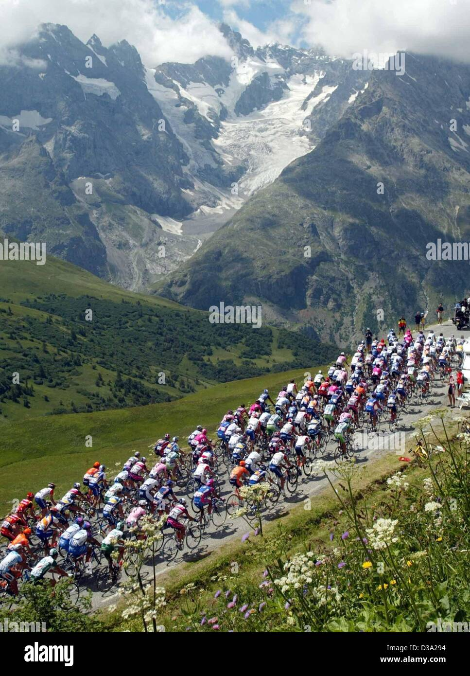 Col Du Galibier Tour De France : galibier, france, Cyclists, Galibier, Mountain, During, Stock, Photo, Alamy
