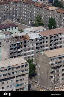 Buildings Pyongyang North Korea Stock