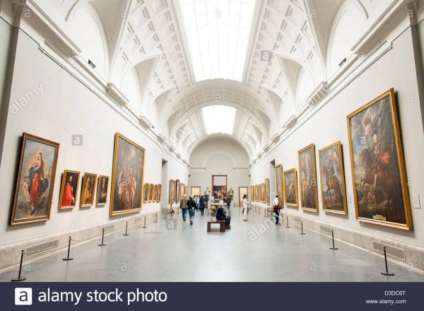 Museo Del Prado Art Madrid Spain Stock