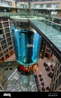 Dpa - View Of 25 Meter High Aquarium Pillar In