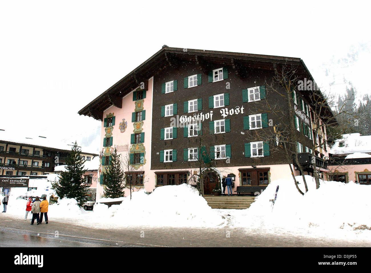 Dpa Gasthof Post Hotel Post Pictured In Lech Austria
