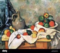 Paul Cezanne, Still Life, Drapery, Pitcher, and Fruit Bowl ...