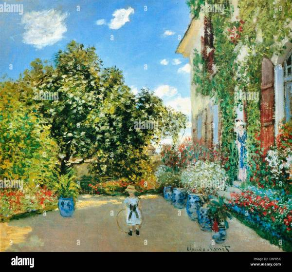 Artists House at Argenteuil by Monet Chicago Art Institute