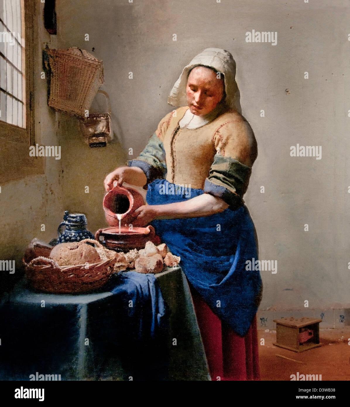 kitchen maid outdoor grill insert johannes vermeer or jan 1632 1675 the milkmaid het melkmeisje 1658 1660 netherlands dutch