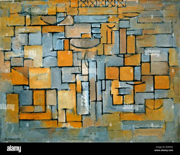Painting Ni Ii Composition 4 1913 Piet Mondriaan 1872 - 1944 Stock Royalty Free