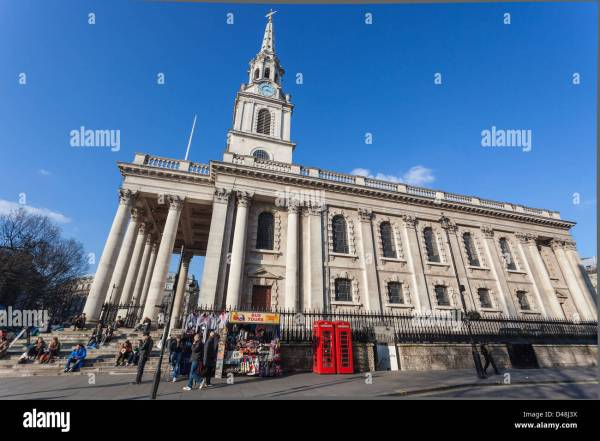 Lateral View Of St Martin-in- Fields Church London England Uk Stock Royalty Free