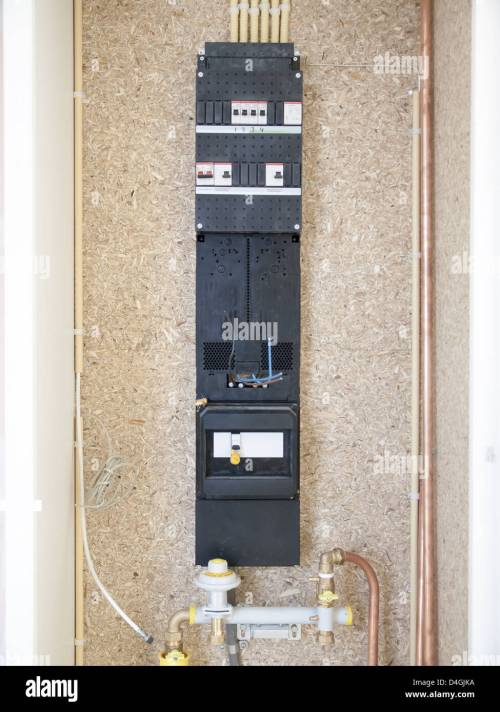 small resolution of meter fuse box in a house under construction