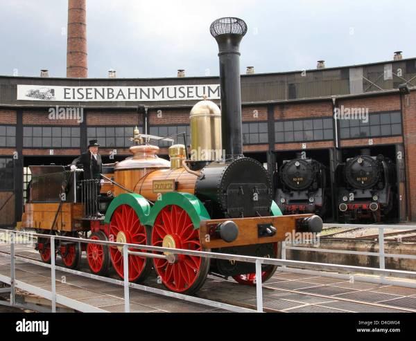 Replica Of Germany' Steam Locomotive 'saxonia