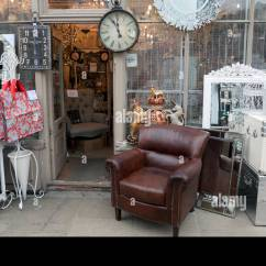 Retro Sofas London Wooden Sofa Set Designs With Storage Vintage Display On The Pavement Outside An Antique